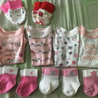 Onesies for Newborn, Mittens, Socks