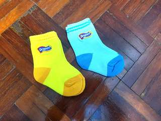 Babies Drypers Socks Yellow & Blue