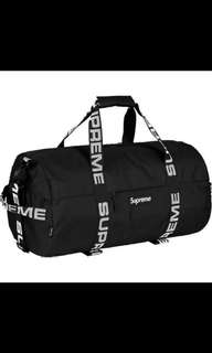 In stock brand new with tag and original packaging  ss18 supreme backpack duffle bag gym bag
