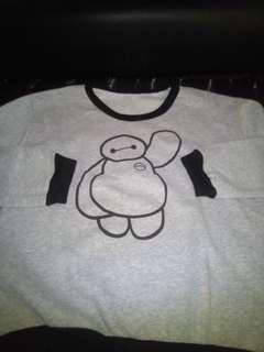 round neck sweatshirt printed baymax