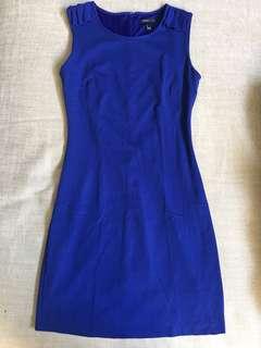 Mango Royal Blue Sleeveless Dress