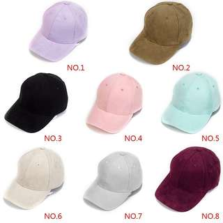 Suede Caps (Adjustable)