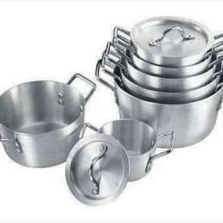14 pcs cooking aluminum set