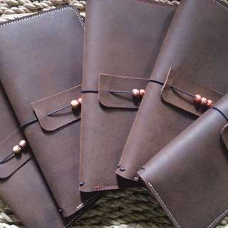 Refillable Leather Traveler's Notebook - Handcrafted Leather Journals