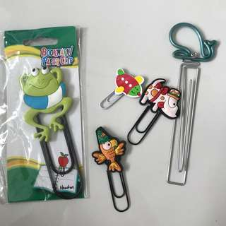 Bookmark paper clips