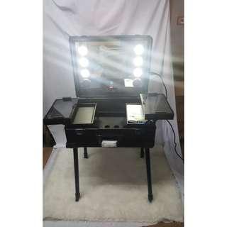 Koper Kosmetik LED Standing Kaki/ Beauty Case Makeup