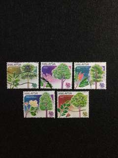 1999 Trees of Malaysia (Booklet Issue) 5V Used Set
