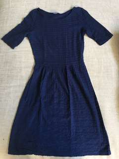 Dorothy Perkins Blue Dress with Short Sleeves