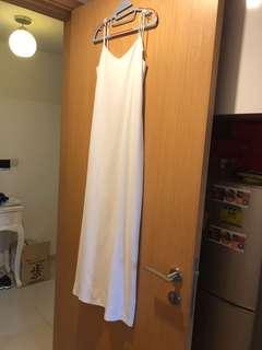 White Long dress, dinner dress, evening dress