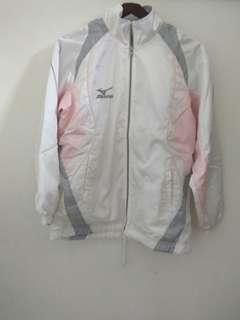 Jaket putih pink