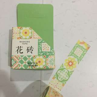 (FLASH SALE) Floral Tiles Washi Tape
