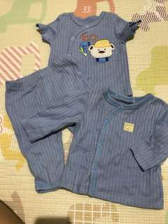Sets blue baby clothes