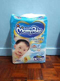 Drypers MamyPoko L 50 Extra Dry Skin Tape
