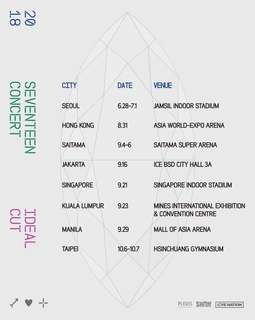 [TICKETING SERVICE] SEVENTEEN IDEAL CUT CONCERT IN MALAYSIA