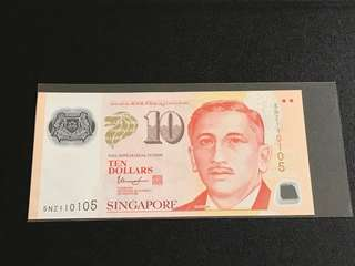 Portrait Series S$10 with Nice No.