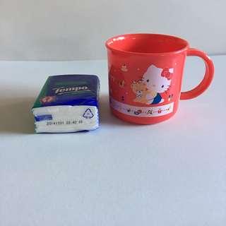 Hello Kitty 膠杯 日本製