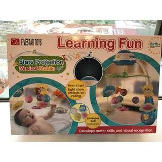 五星玩具 全新 可愛動物 投影床頭音樂鈴