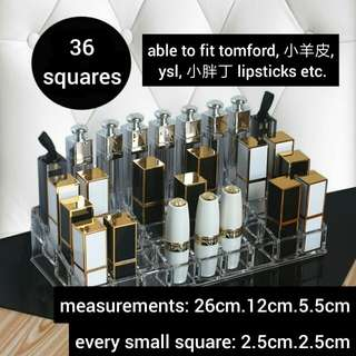 (po)#804 acrylic makeup holder,36!