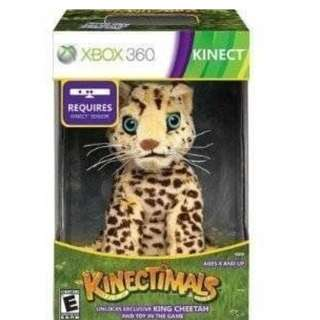 BRAND NEW XBox 360 Kinect Kinectimals King Cheetah And Toy In The Game CD Plush Toy And Game