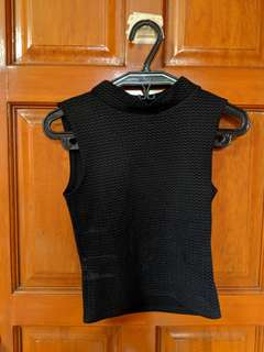 Black Turtleneck Sleeveless