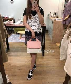 韓國真皮+帆布款袋