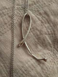 Tiffany L necklace long chain
