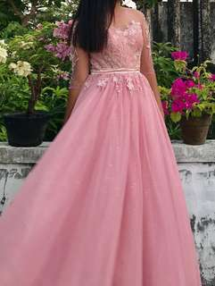 Blush Pink Prom Dress / Gown