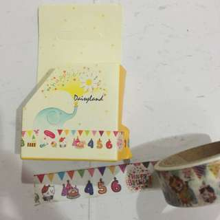 (FLASH SALE) Daisyland Birthday Washi Tape
