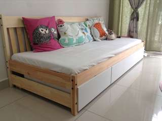 DAY BED FRAME with Drawers (hand made)