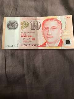 1111 10dollar notes