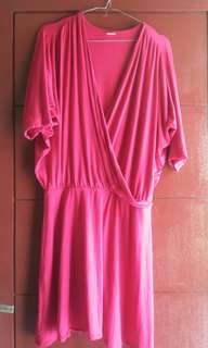 Mini dress kimono pink