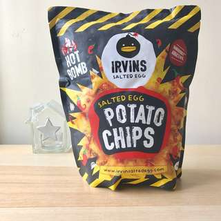 IRVINS 辣味鹹蛋薯片 Hot Bomb Salted Egg Potato Chips