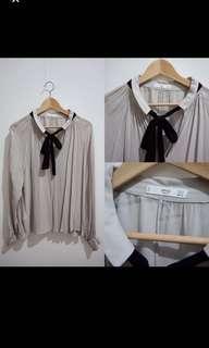 Mango Original grey blouse