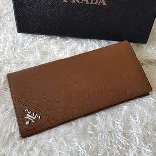 Authentic Prada Saffiano Vertical Bifold Card Wallet