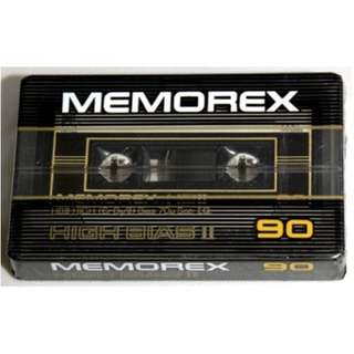 Vintage Cassette Tapes MEMOREX 1980s Sealed Unopened Unused