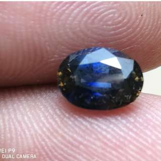 1.53cts Natural Sri Lankan Royal Parti Blue Sapphire. Nice for collection. Parti Sapphires. 100% Natural.