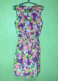 Floral Sunday Knee-Length Dress