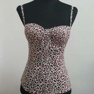 Animal Print Bustier Corset Top