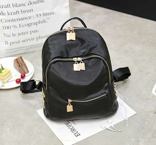 🚚 【Q夫妻】backpack 時尚款 尼龍布 雙肩包 後背包 #B1503