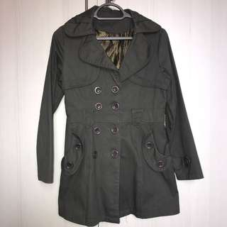 Lady army green Winter Coat for sales