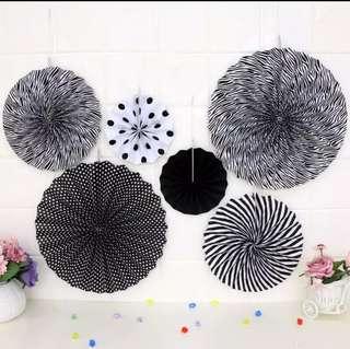 Party fans decor! Paper fans. Many colours!