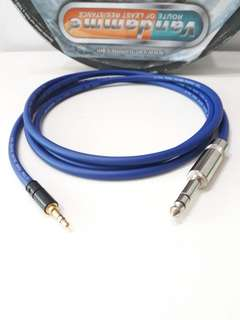 3.5mm trs to 1/4 Stereo Phone Jack Vandamme Cable