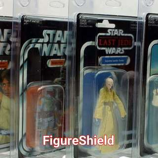 FIGURE SHIELD PROTECTIVE CASES FOR STAR WARS VINTAGE COLLECTION & OTHERS MOC FIGURES