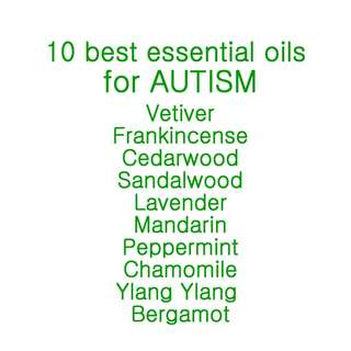 10 best essential oils for AUTISM