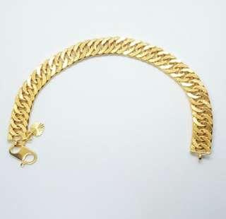 Rantai Tangan Lipan 6Gram Emas 916 Gold Bracelet Murah