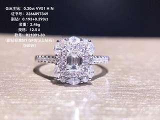 18K白金 GIA鑽石戒指