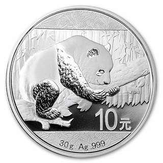 100%new 2016 China Silver Panda 全新中國熊貓銀幣