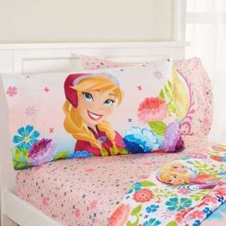 BRAND NEW Unopened Disney Frozen Floral Breeze Sheet Set, Pink - SINGLE