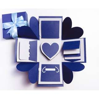 Classic Blue Explosion Gift Box