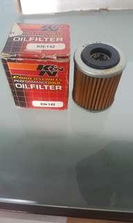 K&N KN-142 Gold Mesh Oil Filter